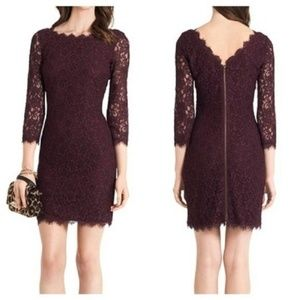 Diane Von Furstenberg Dresses - Diane Von Furstenberg Zarita lace sheath dress